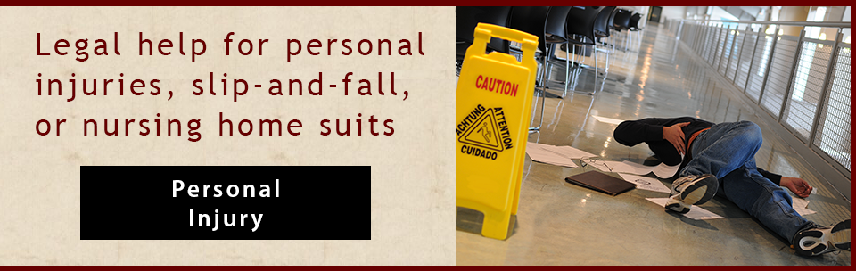 Banner: Personal injury